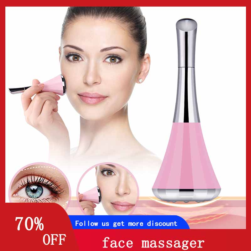 Microcurrent Face Lift Machine Wrinkle Facial Cavitation Massager Roller Anti Cellulite Sauna Face Trainer Shaper Skin Care Tool