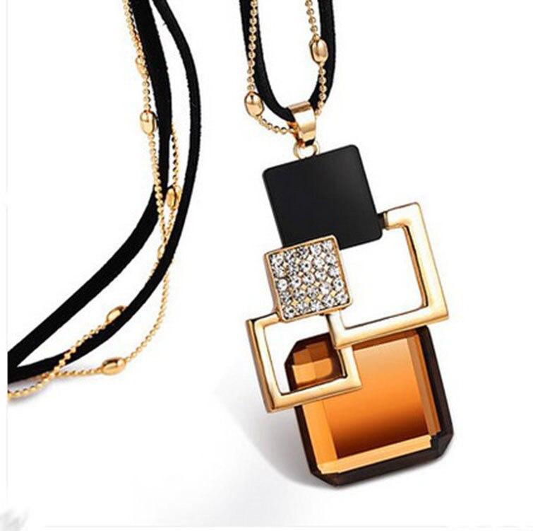 BYSPT longs colliers et pendentifs pour femmes Collier Femme géométrique déclaration Colar Maxi mode cristal Bijoux Bijoux 5