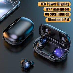 Bluetooth 5,0 наушники с кнопкой управления беспроводные наушники спортивные водонепроницаемые IPX7 бас стерео игровые гарнитуры с микрофоном
