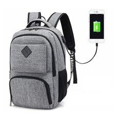 купить men's backpack nylon travel notebook backpack men casual school backpacks for teenagers usb charging laptop school bag дешево