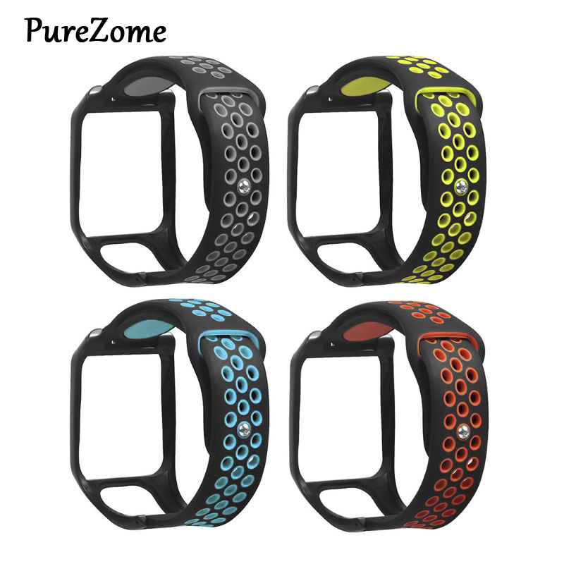 Replacement Breathable Bracelet Watch Strap Silicone Wrist Band For Tomtom Runner 3/Adventurer/Golfer 2/Runner 2 Cardio/Spark 3