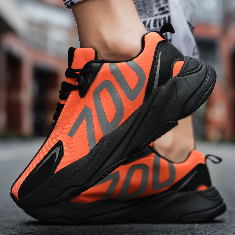 New coconut shoes explosion models 700 fluorescent blade shoes sports shoes ins catwalk thick-soled fashion men's casual shoes