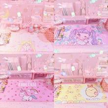 Gaming-Mat Mouse-Pad Action-Figure Anime-Card Sailor Moon Sakura Cartoon Keyboard Unicorn