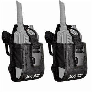 2PCS Multi-Function Portable Walkie Talkie Bag Universal Radio Case for Baofeng UV-5R UV-5RA Plus UV B5 UV-82 UV 5R For Motorola
