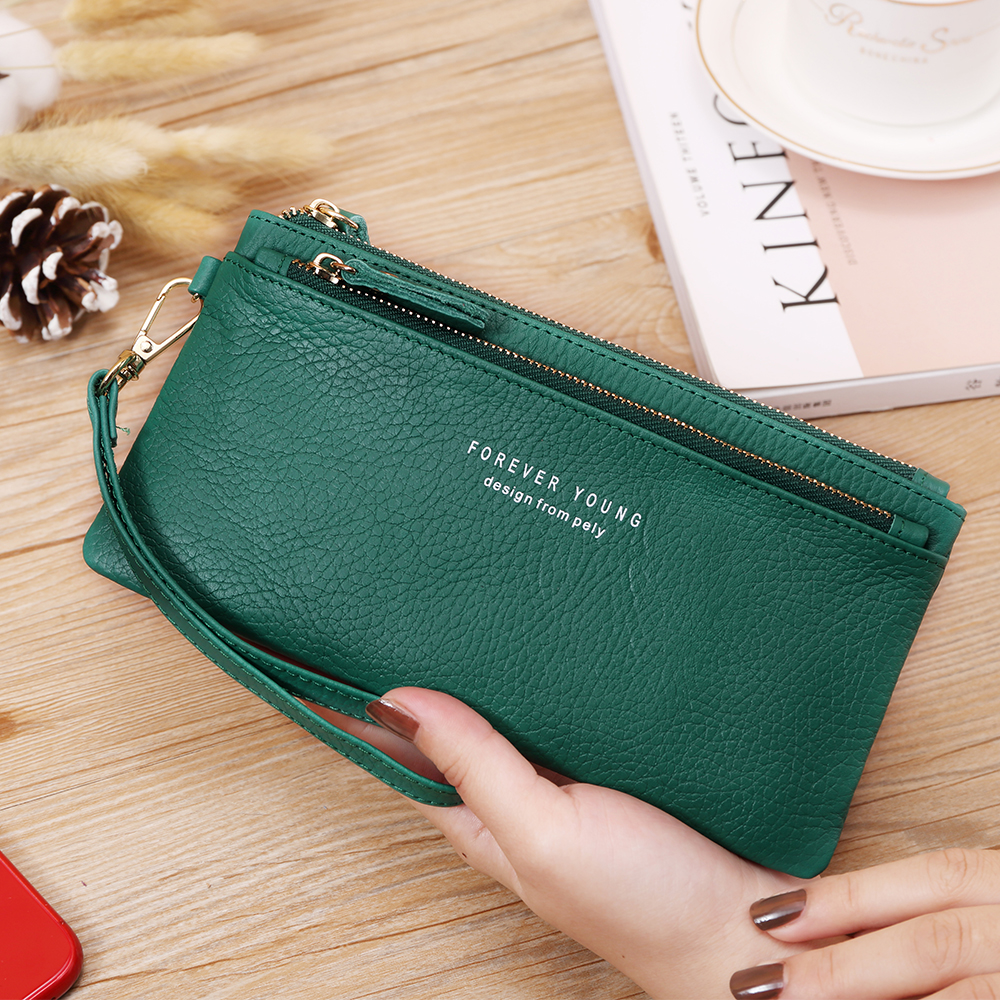X.D.BOLO Fashion Wallet Genuine Leather Women's Wallets Card Holder Female Wallet Coin Pocket Womans Wallet For Money