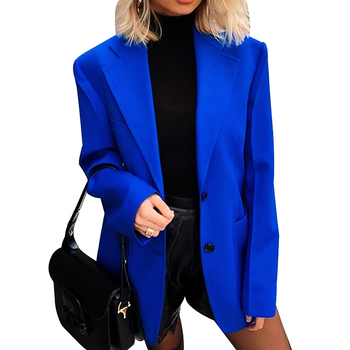 Fashion Autumn Women Blazers And Jackets Office Suit Slim Chic Single Breasted Long Sleeve Casual Pockets  Female Blazer Coat 2020 fashion hot new women blazers and jackets long sleeve slim blazer ruffle short blazer design candy color outerwear