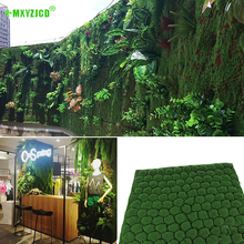 Home Background Wall Simulation Lawn Office Mall Man-made Square Moss Green Plant Indoor Decoration