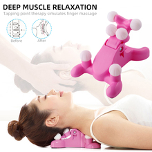 Cervical Pillow Neck and Head Massager Magic Neck Support Device Spinal Relaxation Chiropractic Pain Relief