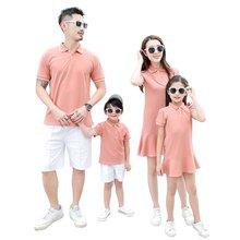 Летние Семейные одинаковые наряды повседневные Хлопковые Платья