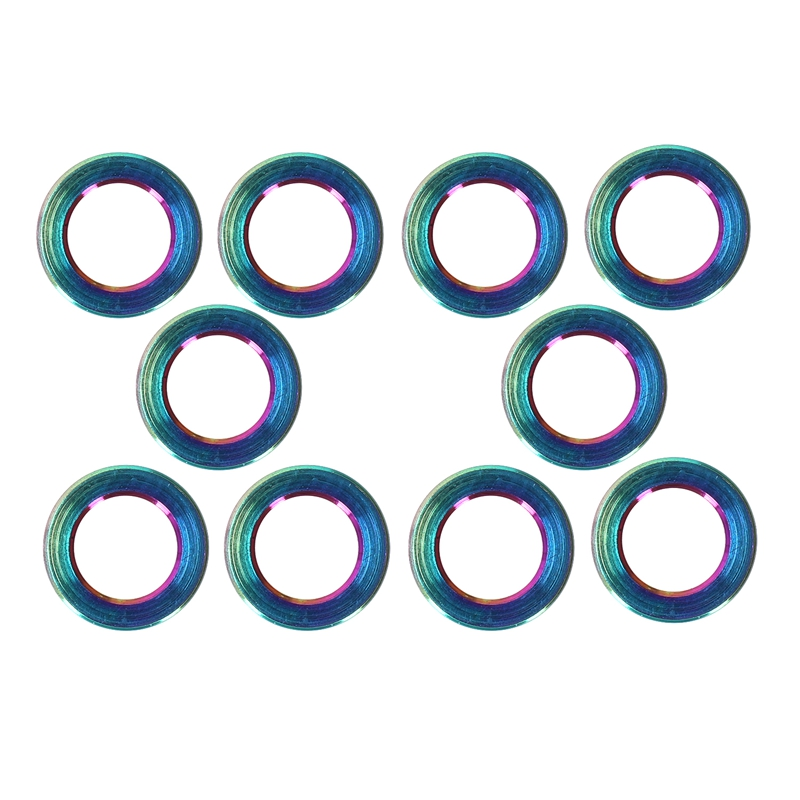 HLZS RISK 10PCS/lot Flat Washer for Bicycle Titanium Bike Ti Bolts Screw Spacer for MTB Bicyce Bolts Parts Cycling Bolt Spacer C|Nut & Bolt Sets| |  - title=