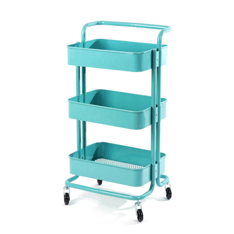 Beauty Salon Trolley Skin Management Special Tool Trolley Hair Manicure Mobile Three-tier Storage Trolley Rack
