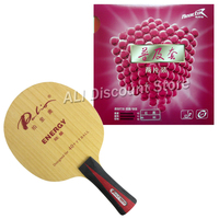 Pro Table Tennis PingPong Combo Racket Palio ENERGY 03 Blade with 2Pcs x Reactor Corbor Rubbers FL