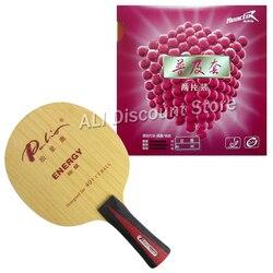 Pro tenis stołowy PingPong Combo rakieta Palio ENERGY 03 ostrze z 2 szt. x reaktor Corbor gumy FL