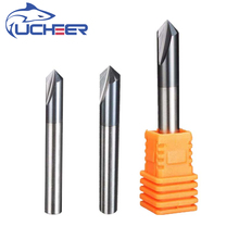 UCHEER 1pc 3 Flutes HRC45 Chamfer End Mill Angle 90 for steel Router Bit Tool Carbide Milling Cutters Mayitr Tungsten steel mzg concave radius milling cutters welding blade type tungsten steel r angle chamfer cutter workpiece chamfering processing