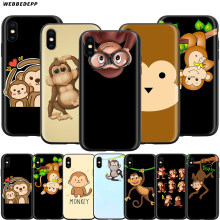 Webbedepp Erstaunliche Affe Cartoon Fall für Apple iPhone 11 Pro XS Max XR X 8 7 6 6S Plus 5 5S SE(China)