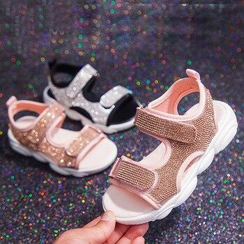 La Escuela de Verano de las niñas sandalias para niños grandes adolescentes bebé 2020 nueva moda coreana princesa sandalias de playa zapatos de 4-12 años