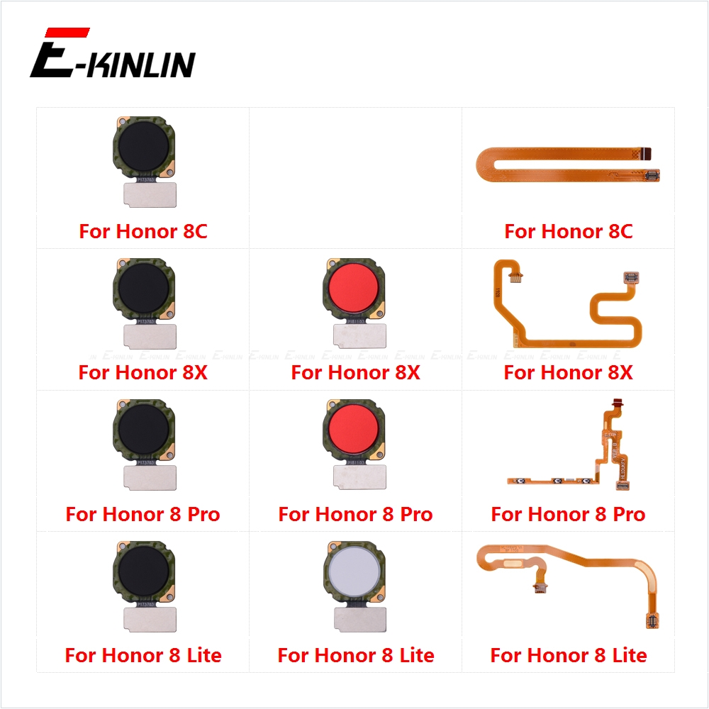 Touch ID Fingerprint Sensor Scanner Connector Flex Cable For HuaWei Honor 8X 8C 8 Pro Lite Back Home Return Button Key
