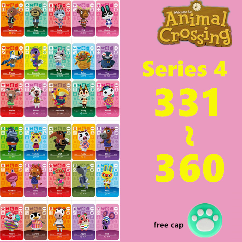 Series 4 (331 to 360) Animal Crossing Card amiibo card Work new horizons amiibo animal crossing card For switch NS NFC Games image
