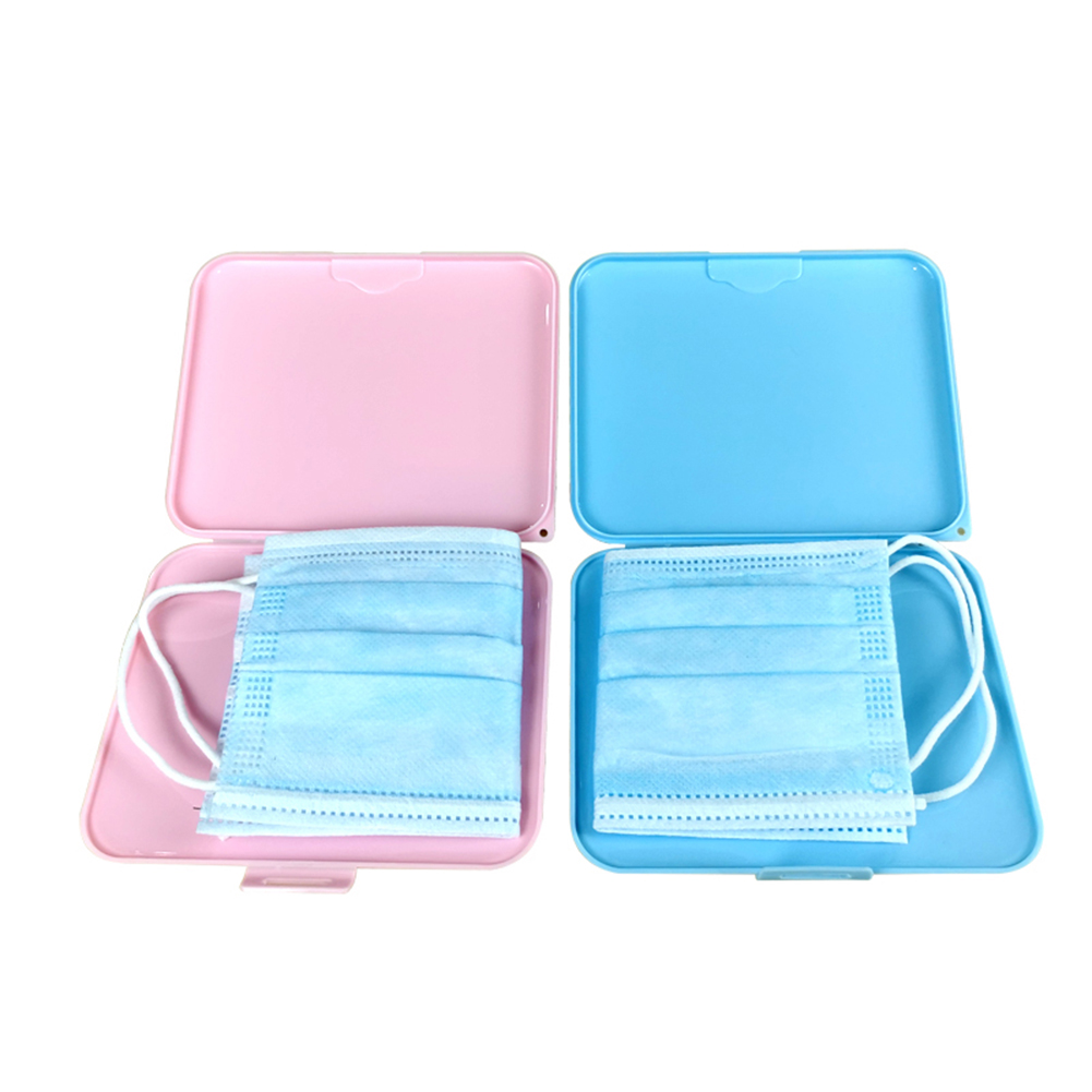 Portable Dustproof Moisture-proof Disposable Mouth Mask Holder Container Organizer Mask Temporary Storage Box(China)