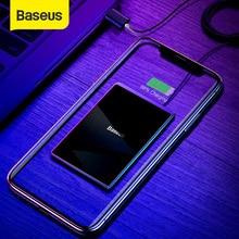 Baseus 15W Qi bezprzewodowa ładowarka przenośna Ultra cienka bezprzewodowa ładowarka do iPhone 11 Pro X XS XR 8 Samsung S10 S9 Xiaomi mi 9