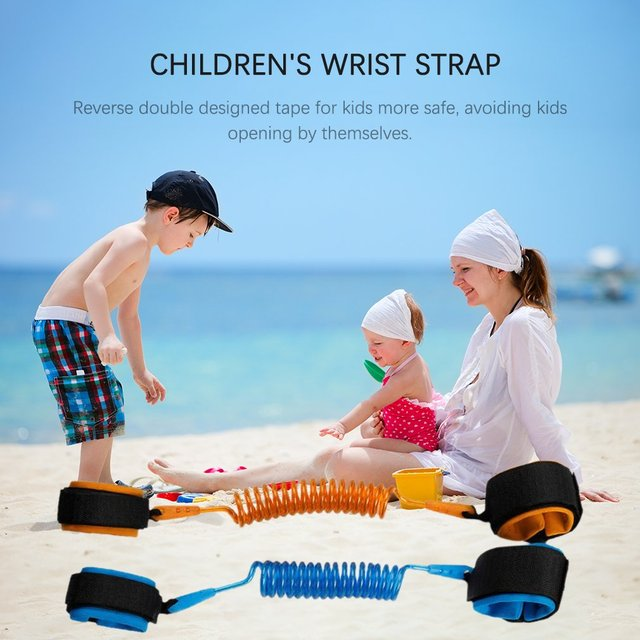1.5m Adjustable Children Kids Safety Anti-lost Wrist Link Band Bracelet Wristband Secure For Baby Harness Strap Rope Leash 3