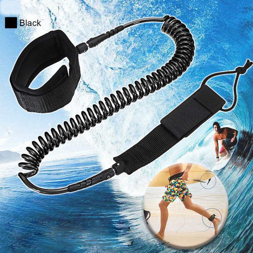 Rescue Elastic Rope Surf Leash Protective Double Head Foot Stand Up Paddle Board Accessories Safety Soft Leg Outdoor image