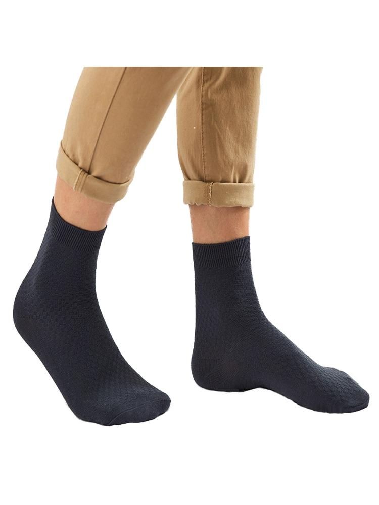 Bamboo-Fiber Sock Dress Gifts Business Black Autumn Long Men Man Plus-Size 10-Pairs/Lot