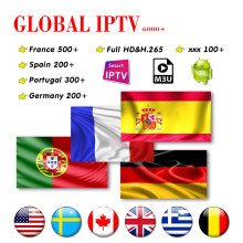 Iptv Espana 1 Jaar 7000 + Iptv Abonnement Iptv Frankrijk Full Hd Iptv Portugal Duitsland Usa Canada Voor Smart Tv android(China)