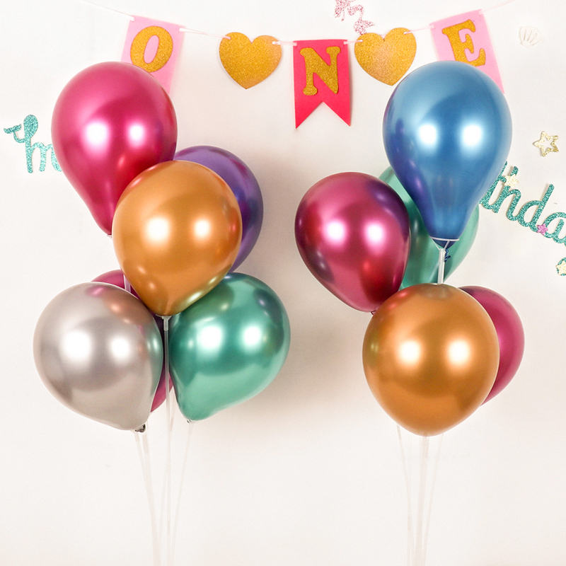 10PCS 12inch Silver Gold Latex Pearly Metal Balloons For Wedding And Birthday Party 3