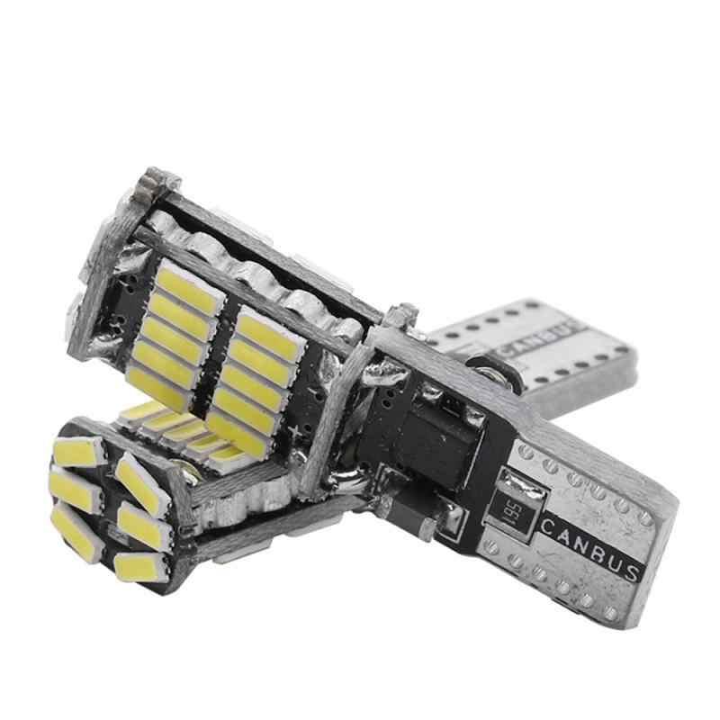 Luz de aparcamiento de coche T10 W5W de alta calidad, luz Interior LED para coche 4014 26SMD Canbus sin Error, luz de techo para coche con cuña, bombillas laterales