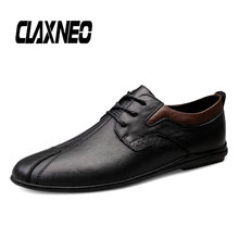 CLAXNEO Man Shoes Design Fashion Leather Shoe Male Casual Footwear Genuine Flats clax Walking