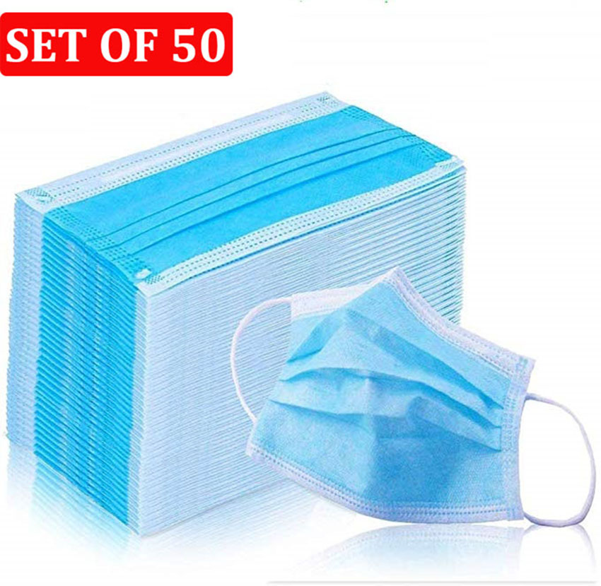 Disposable Masks Safety Protective Anti-dust 3 Layers Masks Breathable Anti-fog Earloops Mouth Face Mask Respirators