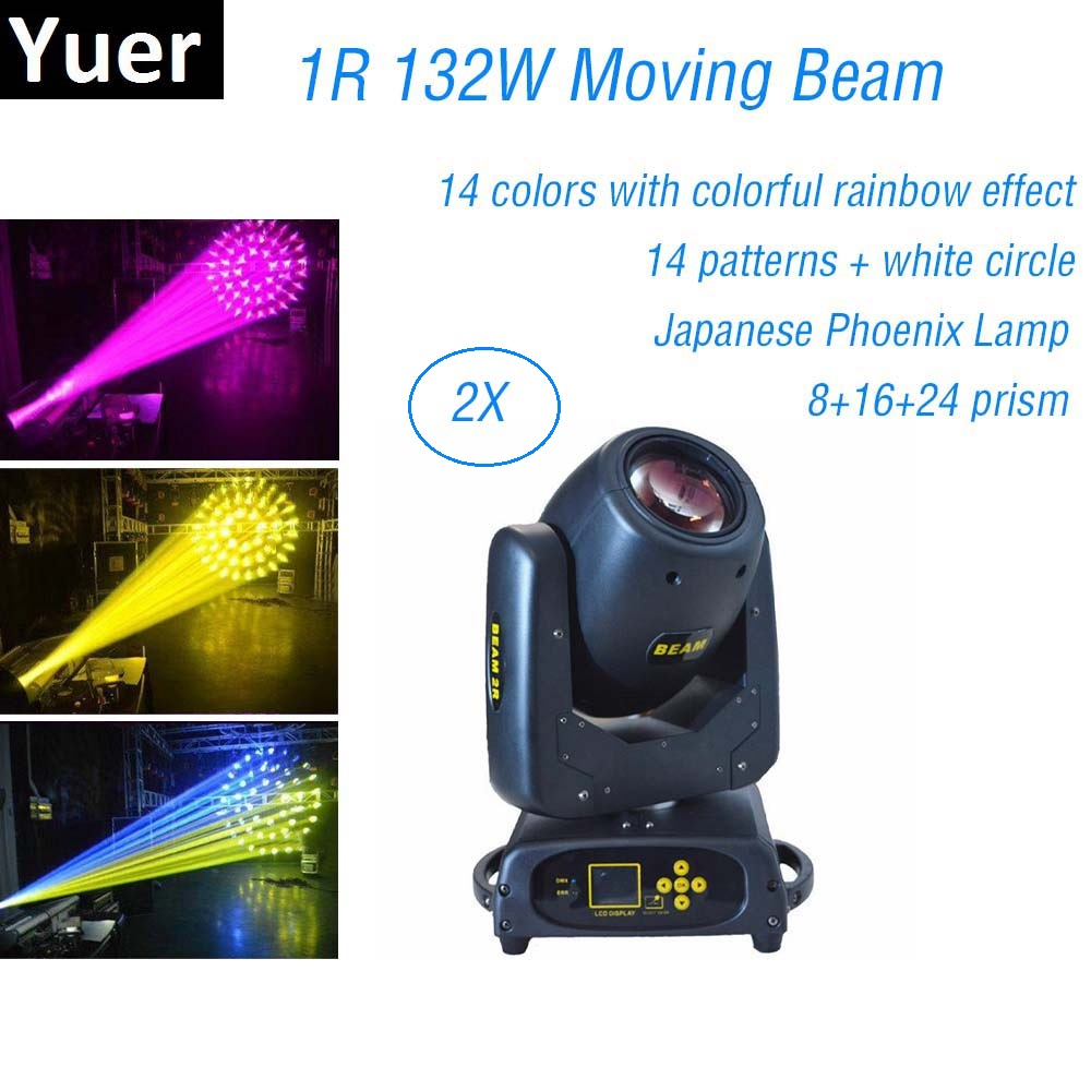 2020 1R Moving Head Beam Lyre DMX Stage Light 8+16+24 Prism Beam 132W Beam 2R Professional Dj Lights For Club KTV Party Mobile