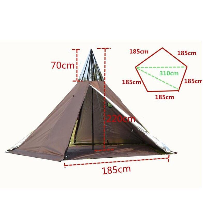 sobrevivencia indiano tenda campo sobrevivencia ao ar livre tenda 03