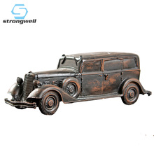 Strongwell European Vintage Car Model Antique Resin Home Decoration Accessories Desktop Living Room Gift Toy