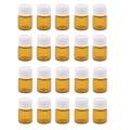 20 stücke Mini Bernstein Glas Fläschchen-Nachfüllbare Kleine Flaschen für Ätherische Öle, Make-Up Flüssigkeit, parfüm-1 ml / 2 ml