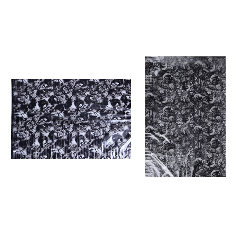 2 Pcs Hydrographic Film - Water Transfer Printing - Hydro Dipping 1 Meter- New Joker & Rolling Bones