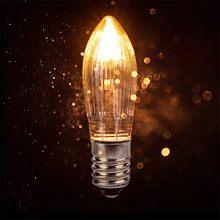 Bombillas LED de repuesto para luces, luz cálida de 3W, velas cónicas E10, arco de vela, 8V, 12V, 14V, 16V, 23V, 34V, 48V, 55V, 10 Uds.