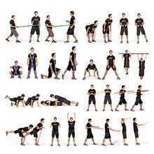 Эластичные резинки для занятий фитнесом и йогой Guma Do Fitnes, спортивное латексное, черное, красное, фиолетовое, 208 см