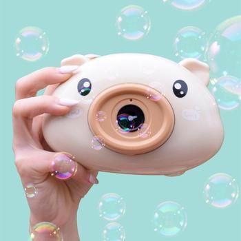 Przenośny aparat zabawka dla dzieci ładny aparat akumulator aparat cyfrowy mini ekran zabawka dla dziecka ekran IPS Mini aparat zabawka prezent dla dzieci tanie i dobre opinie Z tworzywa sztucznego Bubble zestaw 2-4 lat Unisex cartoon Brzmiące Miga Bubble Machine Parent-child interactive toys