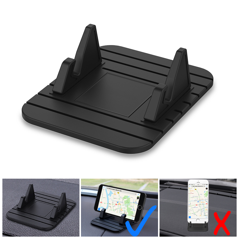 Car Dashboard Non-slip Rubber Mat Phone Mount Holder Pad Phone Stand Bracket For Huawei IPhone Samsung Xiaomi Phone Holder
