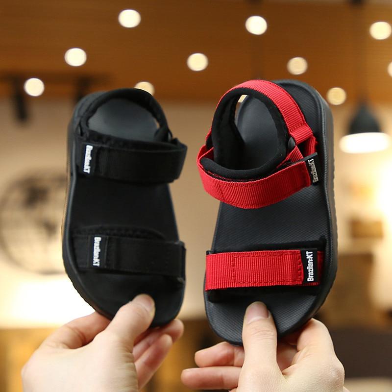 Boys Sandals 2020 Summer Bohemian Shoe For Girls Canvas EVA Fashion Children's Cool Slippers For School Kids Toddler 24-35