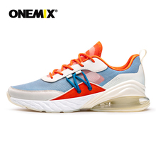 ONEMIX Sneakers Men Running Shoes Summer Breathable Mesh Air Cushion Sport Footwear Outdoor Athletic Trainers Women Tennis Shoes night elf men running shoes high quality women sneakers breathable air mesh colors change tennis shoes hot sport shoes men 2016