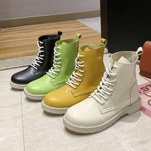 Fashion Platform Ankle Boots Colorful Martin Ladies 2019 New Womens Autumn Transparent Heels Yellow White Boot