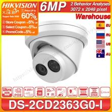 كاميرا Hikvision الأصلي و OEM 6MP DS 2CD2363G0 I H.265 الوجه كشف شبكة IP كاميرا POE CCTV الأمن كاميرا SD فتحة بطاقة