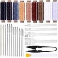 LMDZ кожаные инструменты для шитья кожа крафт с вощеной резьбой Дырокол иглы для кожаного рабочего набора