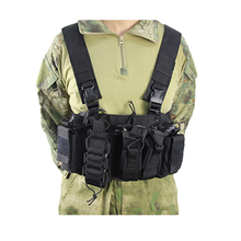 Tactical Vest Airsoft Molle Chest Combat Paintball Rig Military Carrier Strike Chaleco With Magazine Pouch Hunting Accessories outdoor hunting tactical chest rig adjustable padded modular military vest mag pouch magazine holder bag platform