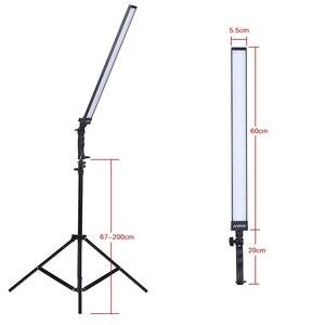 Image 2 - Andoer Kit de estudio de iluminación de vídeo, Kit de luz Led para estudio fotográfico, luz de relleno de mano regulable con soporte de luz 36w 5500K CRI90 +