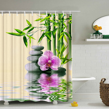 180*200cmMulti-Styles 3D HD Digital Printed Shower Curtains Waterproof Moisture-Proof Bathroom Polyester Curtain