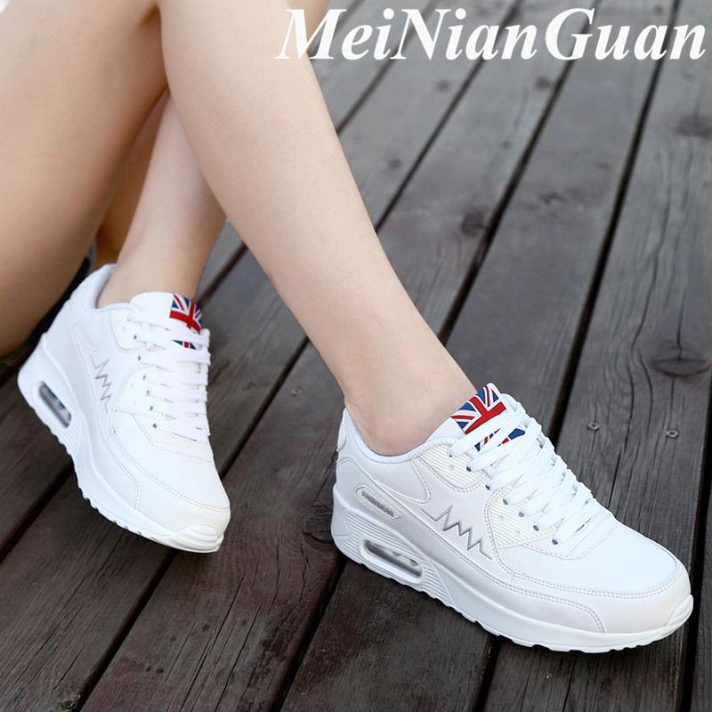 Women's Footwear White Female Sneakers Breathing Women's Running Shoes Soft Sports Shoes Lady Cushion Sporty Women's Shoes H1